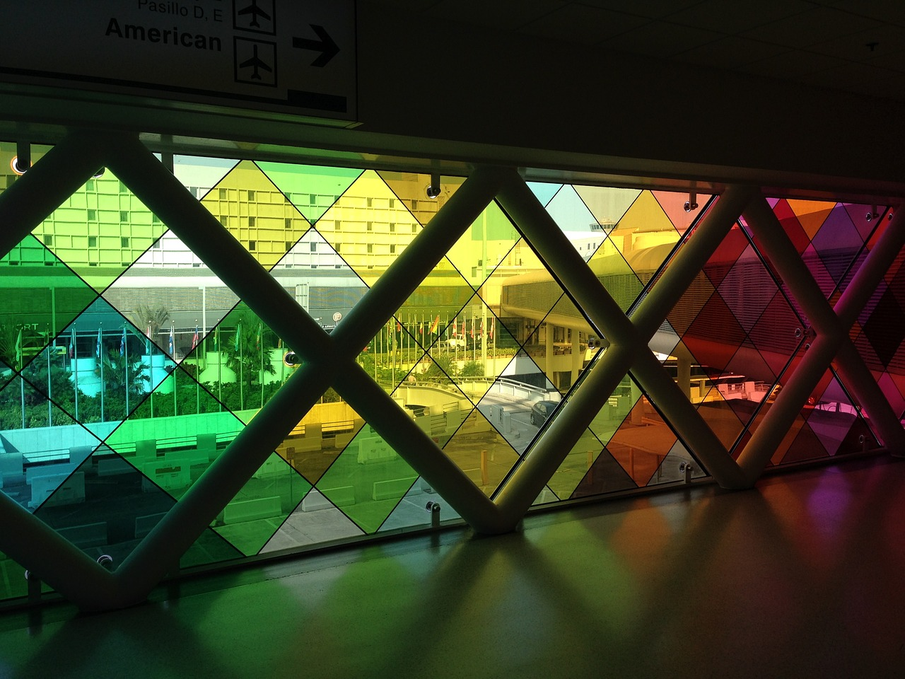 Miami Airport Stained Glass